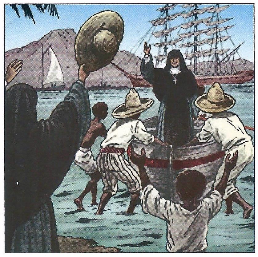 La Beata Madre volviendo a Francia desde las Antillas.